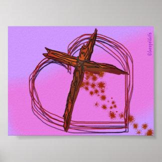 crosshart print