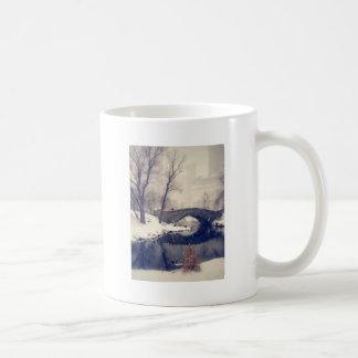 Crossing Bridges Through The Snow In Central Park Coffee Mug
