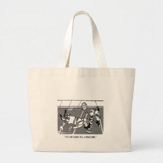 Crossing Guard Cartoon 2163 Jumbo Tote Bag