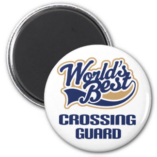 Crossing Guard Gift (Worlds Best) 6 Cm Round Magnet