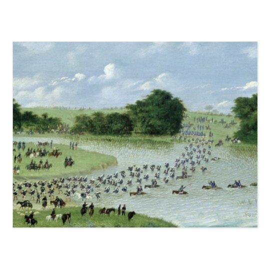 Crossing of the San Joaquin River, Paraguay, 1865 Postcard