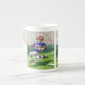 Crossing the Goal Line for a Touchdown Bone China Mug