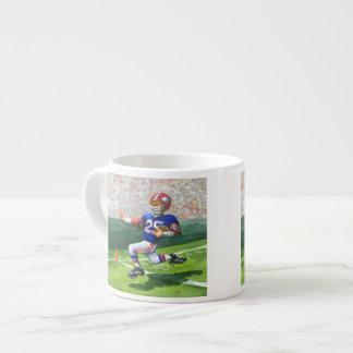 Crossing the Goal Line for a Touchdown Espresso Mug