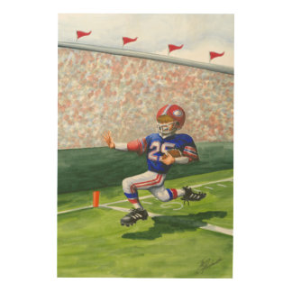 Crossing the Goal Line for a Touchdown Wood Wall Art