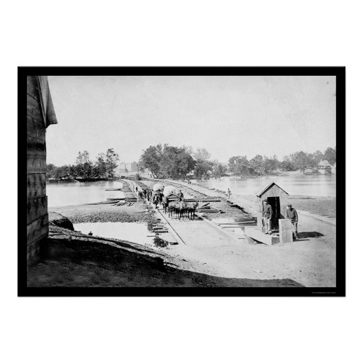 Crossing the James River in Virginia 1865 Posters