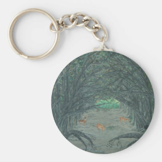Crossing to the Other Side Basic Round Button Key Ring