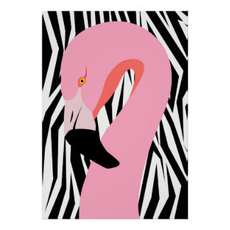 Crossover Flamingo Poster