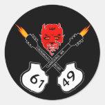 Crossroads Blues Devil Sticker