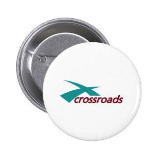 crossroads church 6 cm round badge