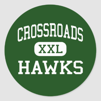 Crossroads - Hawks - Middle - Holly Springs Round Sticker