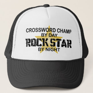Crossword Champ Rock Star by Night Trucker Hat