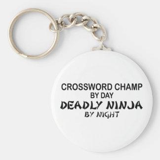 Crossword Deadly Ninja by Night Key Ring