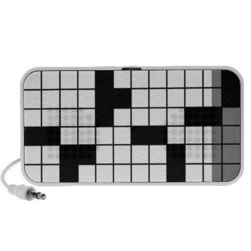 crossword doodle iPod speaker