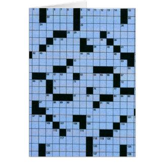 Crossword Puzzle Card