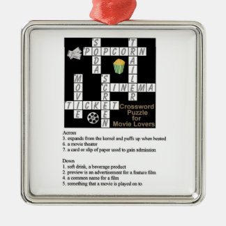 Crossword Puzzle for Movie Lovers Ornament