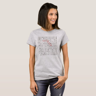Crossword puzzle LOVE YOU clue t-shirt