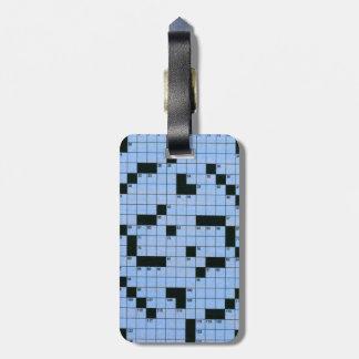 Crossword Puzzle Luggage Tag