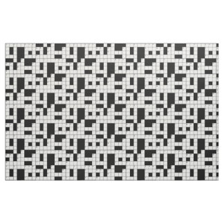 Crossword Puzzle Pattern Fabric