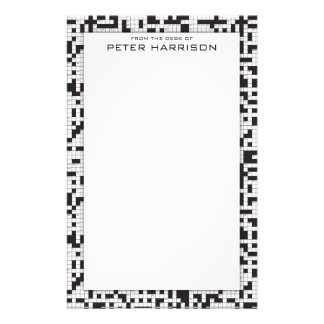 Crossword Puzzle Personalized Stationery