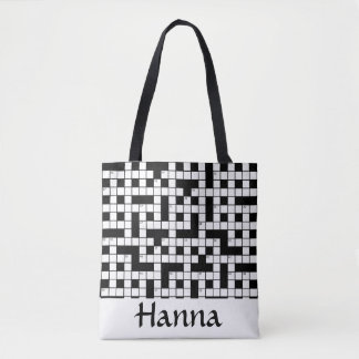 Crossword Puzzle Personalized Tote Bag