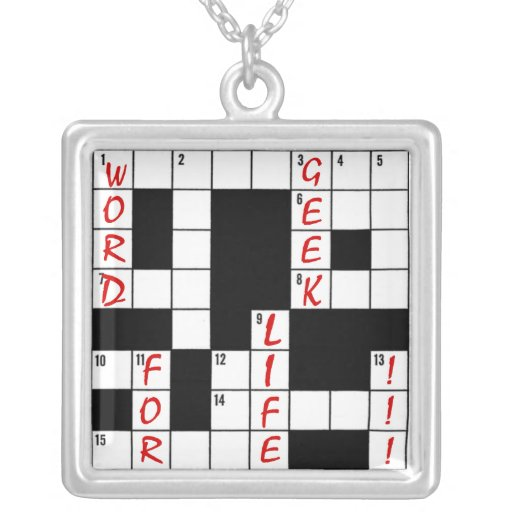 Crossword Puzzle Word Geek For Life Necklaces