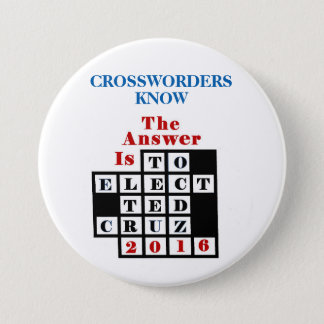 Crossword Puzzlers for Cruz 7.5 Cm Round Badge