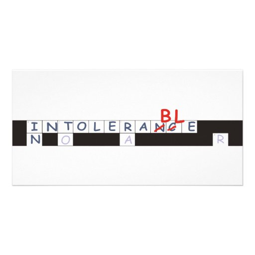 crossword strip customized photo card