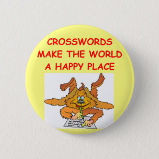crosswords 6 cm round badge