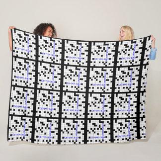 Crosswords addiction fleece blanket