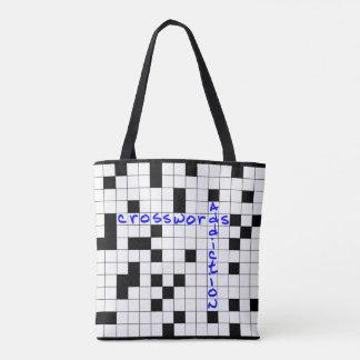 Crosswords addiction tote bag