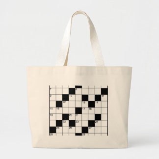 Crosswords Large Tote Bag