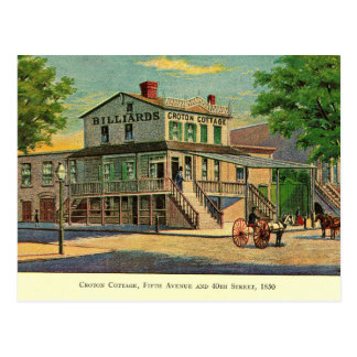 Croton Cottage, Fifth & 40th, New York City Vintag Postcard