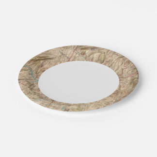 Croton Lake Vicinity 7 Inch Paper Plate