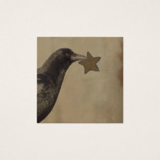 Crow And A Rusty Star Square Business Card