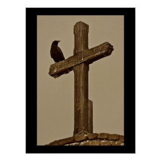 Crow and Cross Poster