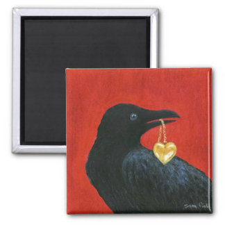 Crow and Locket Magnet