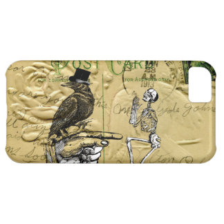 Crow and skeleton iPhone 5C case