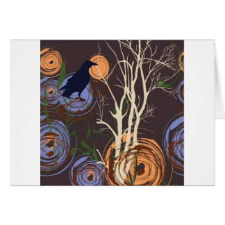 Crow and tree card