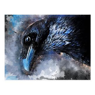Crow art #crow #bird #animals postcard