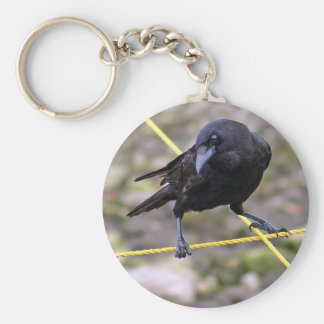 Crow at Crossroads Key Ring