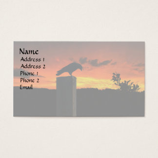 Crow at Sunset Business Card