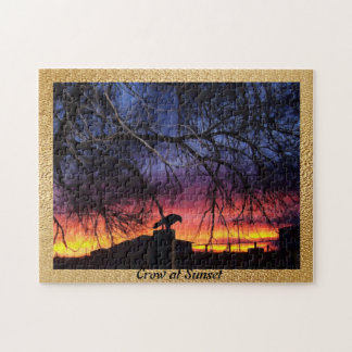 Crow at Sunset Jigsaw Puzzle