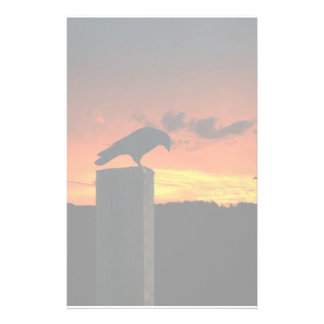 Crow at Sunset Stationery