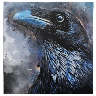 crow bird art #crow napkin