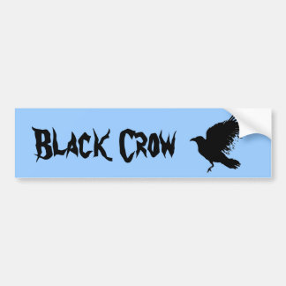 Crow - black bumper stickers