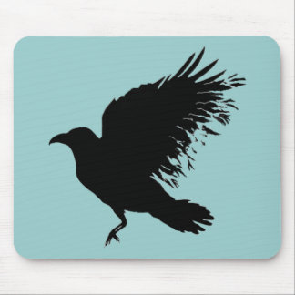 Crow - black mouse pad