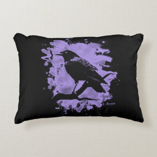 Crow bleached violet accent cushion