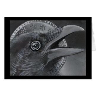 Crow Christmas Angel Card