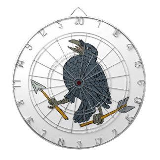 Crow Clutching Broken Arrow Drawing Dartboard