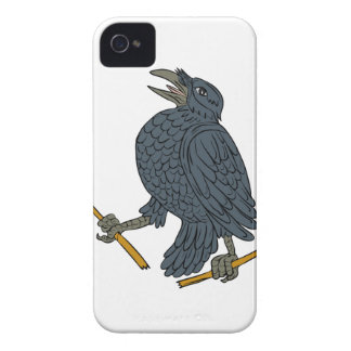 Crow Clutching Broken Arrow Drawing iPhone 4 Case-Mate Case